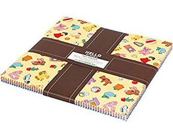 Dolly Jean Layer Cake 30's Reproduction fabric from Robert Kaufman by the pack