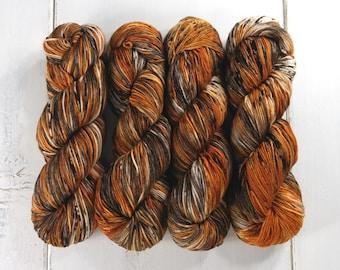 Sport Weight Yarn//Hand Dyed//Speckled//Superwash Merino//100 g 325 yds//Super Squishy Sport Superwash - Pumpkin Latte*In Stock