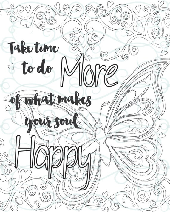 Adult Inspirational Coloring Page printable 01-Make your Soul