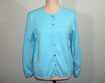 Robins Egg Blue Womens Cardigans Light Blue Cardigan Cotton Sweater Spring Clothing Summer Womens Lands End Medium Cardigan Womens Clothing