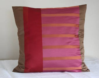 Cushion cover 40 x 40 cm in Brown, pink, Burgundy