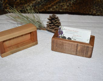 Handmade Reclaimed Wood Business Card Holder