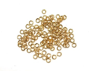5 grams x 4mm Tarnish Resistant Gold Plated Jump Rings