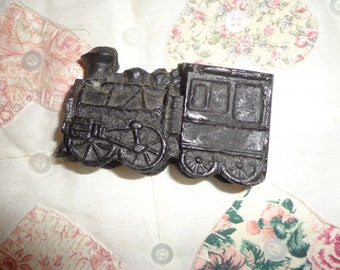 Adorable  Vintage Folk Art Train  Engin Is a great Present 3 1/2 or 8.89 centimeters down, 2''or 5.08 centimeters down
