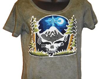 Grateful Dead Women's Steal your Face Pacific Northwest Batik Shirt