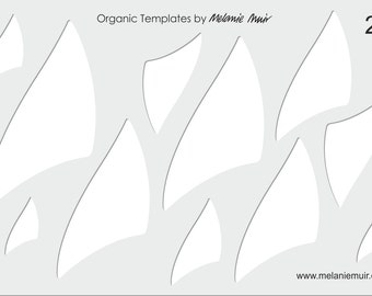 No 27 Clear Acrylic Template/Stencil for Polymer/Metal Clay/Jewellery/Crafting