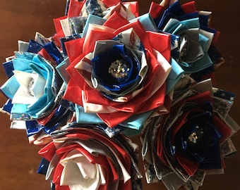 USA duct tape flower pens