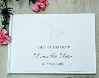 Personalised Guest Book - Monogram