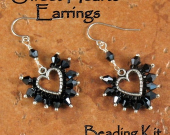 Beading Kit - Sweet Hearts Earrings