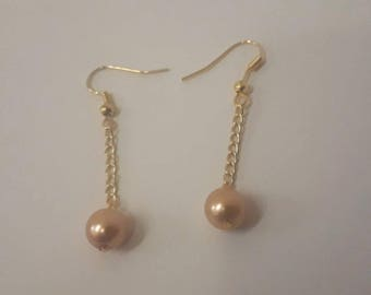 Lucky Gold and Pearl Earings