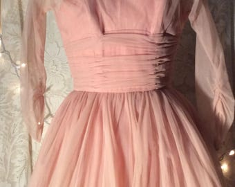 1950's prom & party dress- Cotton Candy Pink