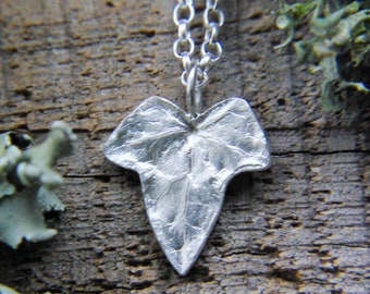 Ivy Leaf Charm Necklace ~ Sterling Silver ~ Botanical Jewellery ~ Full Moon ~ Gifts For Her