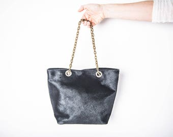 Black leather purses for women, black leather handbags for woman, black women purse, trendy purses for women, cowhide purse with chain strap