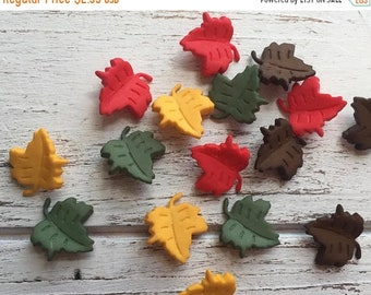"""SALE Leaf Buttons, Packaged Novelty Buttons """"Falling Leaves"""" #4618 Autumn Collection, Shank Back Buttons, Embellishments"""