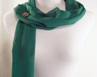 Wedding Scarf - Kelly Green Bridal Scarf - Emerald Green Bridesmaid Scarf - Evening Wrap - Extra Long Kelly Green Silky Chiffon