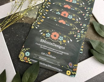 BMonteDesigns Gift Certificate