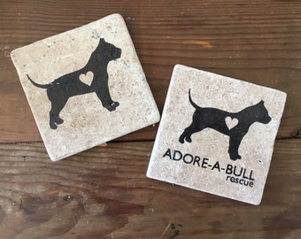 Adore-A-Bull Pit Bull Tumbled Stone