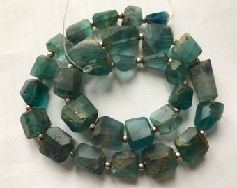 10-16MM Superb Matte Finish  Florite Nugget Shaped  beads Strand Afghanistan