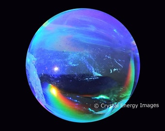 Crystal Ball Photo, Spiritual Reiki Energy Art, Healing Energy Art Yoga Teacher, Chakra Color, Reiki Wall Art, Healing Art, Sacred Ethereal