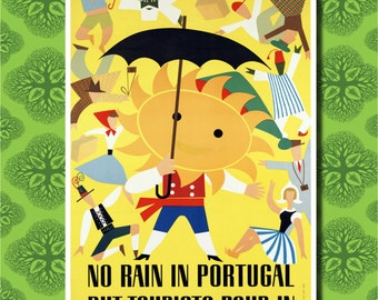 Portugal Travel Poster Wall Decor (7 print sizes available)