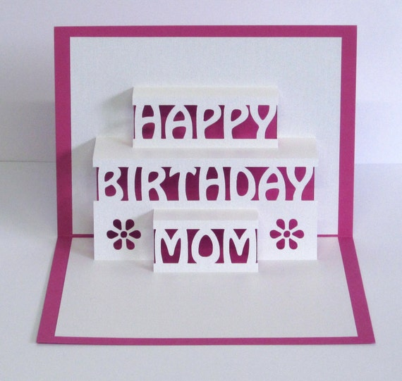 Mama geburtstagskarte 3d pop up happy birthday mama card for Pop up geburtstagskarte