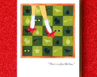 DOROTHY onward, dorothy. greeting card straight from the emerald city of oz. get your ruby slippers on.