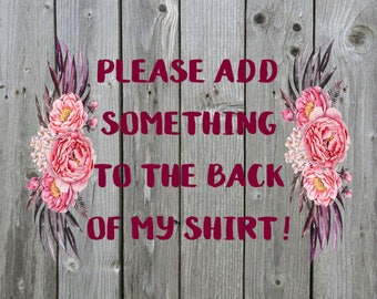 Add Names, Numbers, or Print to any shirt