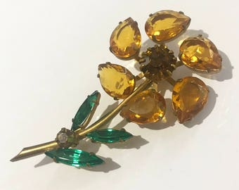 Vintage Brooch - Cosume Jewellery - Large Flower