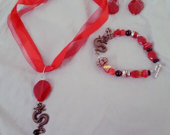 There be Dragons! Ruby red set