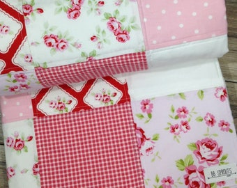Baby Quilt Ready to Ship Handmade Patchwork Baby Quilt Baby Quilt Girl Baby Gift Modern Baby Quilt Baby Quilt for Sale Baby Quilt