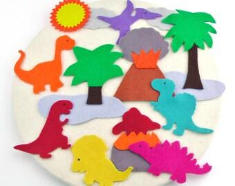 Felt Board Dinosaur Toys, Gift Quiet Activity, Dinosaur Birthdays, Quiet Felt Activity, Felt Quiet Toys, Montessori Travel Quiet Activity