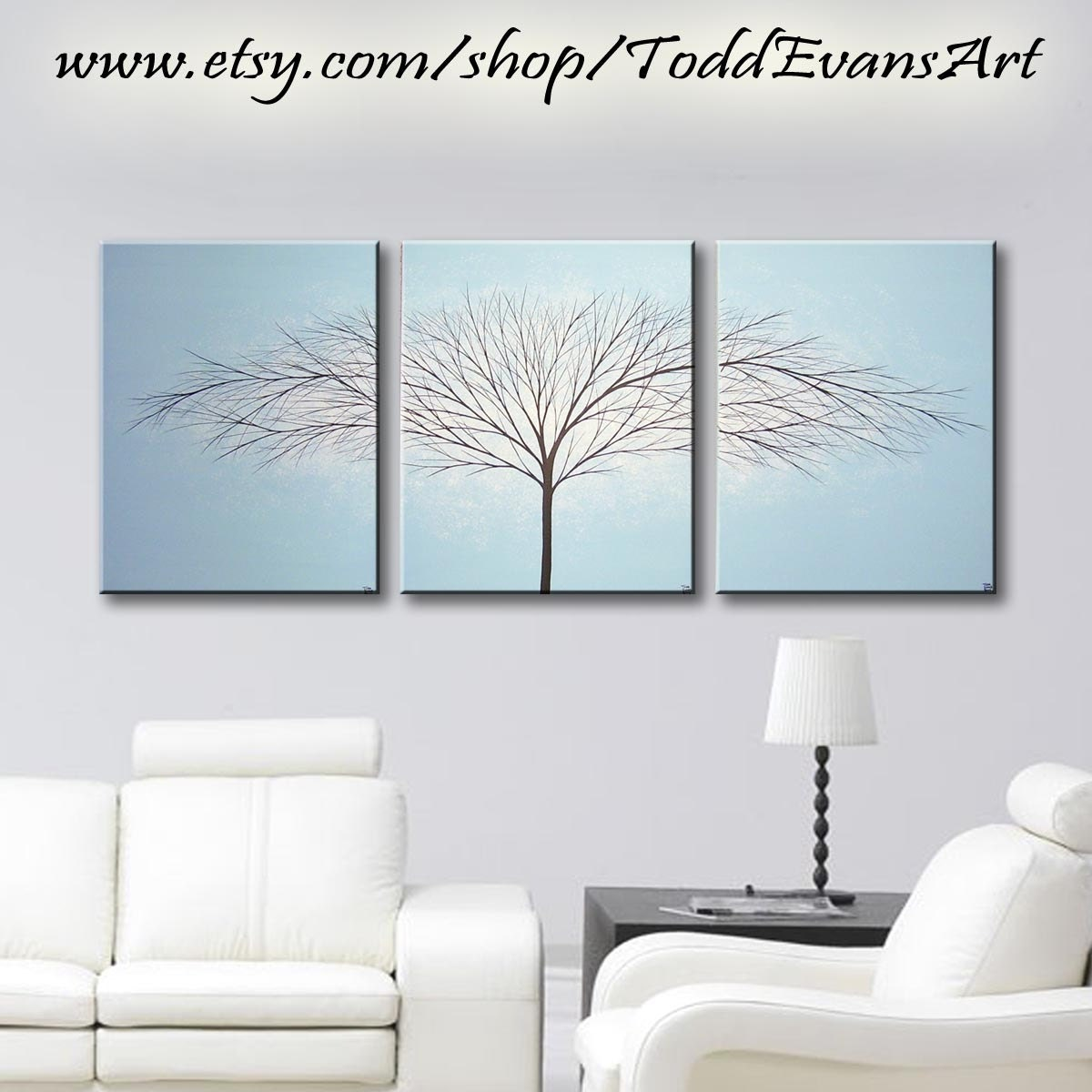 Canvas Art Painting Tree artwork 3 Piece Wall Art Bedroom Wall