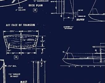 Blueprint fabric etsy malvernweather Images
