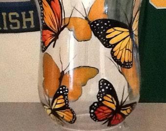 Butterfly glass hurricane