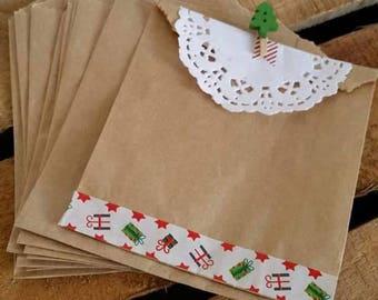Set of 10 Kraft 11x35x13.3cm pouches