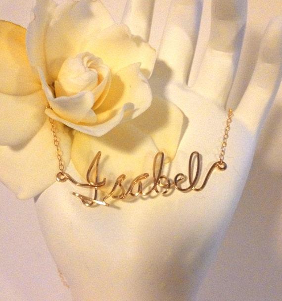 Draht Namen Halskette Blumenmädchen Namen personalisierte