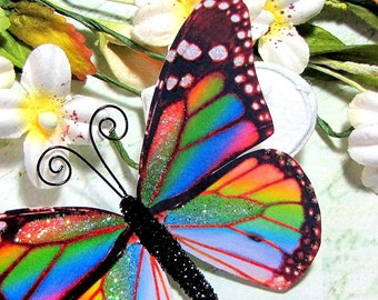 Butterfly Embellishments Over the Rainbow