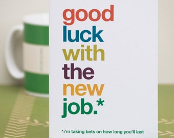 Leaving job card messages