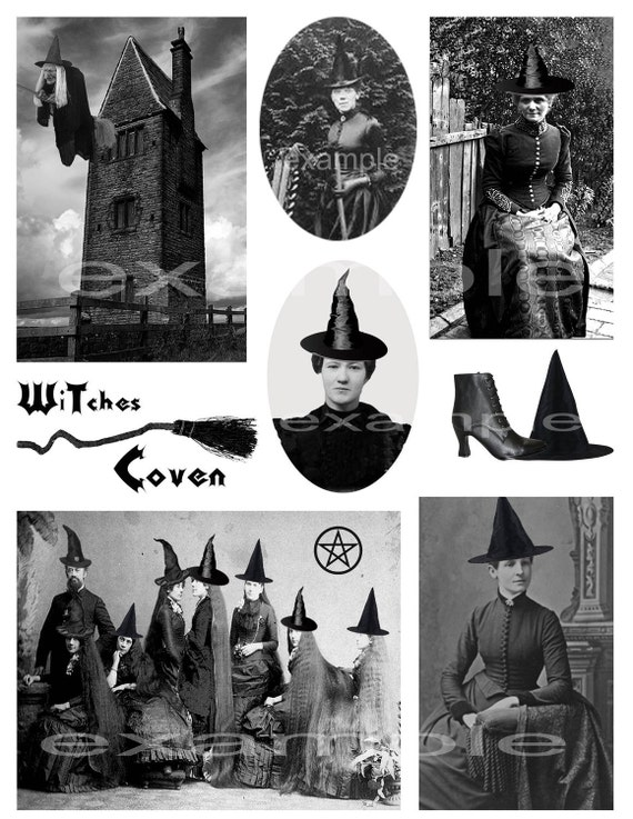 Halloween   Witches Coven Digital Collage Sheet from