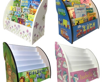 Children's Bookcase with theme variations plus optional personalisation