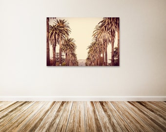 """Hollywood Canvas Art, Large Los Angeles Wall Art, Gold Wall Decor, Hollywood Sign, Extra Large Canvas Art - """"Hollywood Bound"""""""