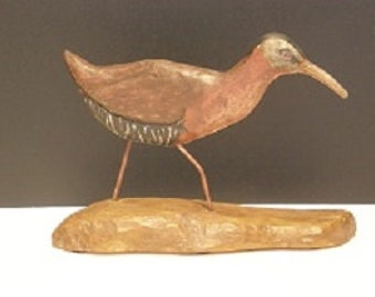 Hard Carved and Hand Painted Bird -Virginia Rai