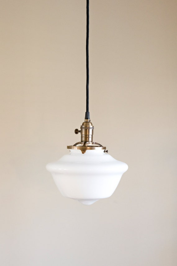 schoolhouse pendant light schoolhouse pendant light fixture tapered white glass shade 10441