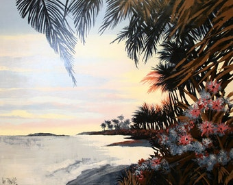 "Lee Reynolds ""On An Island"" - Original Oil/Canvas  - Retail 5,000 - COA - See Live at GallArt - Buy/Sell/Trade"