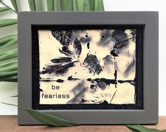 Affirmation quote | be fearless | motivational art | inspirational quote | small canvas art | framed canvas print