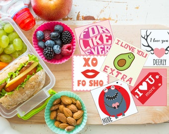 Valentine's Lunch Box Notes,PRINTABLE,Lunch Box Note cards,Back to School Notes,Inspirational,Assorted Lunch Notes,lunch box love notes