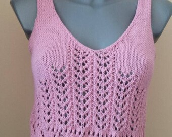 Women knitted a tank top