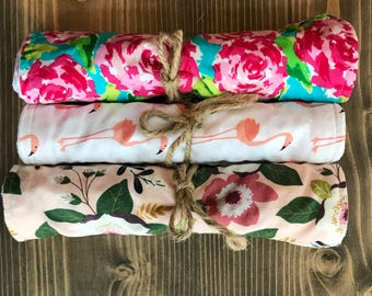 Lilly Pulitzer Inspired Burp Cloth Set of 3