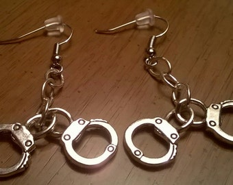 Handcuff Earrings Jewelry Cute Gift Handmade