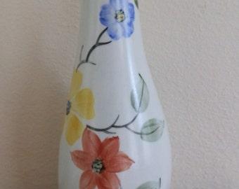 Vintage 1950's Radford Small Hand-Painted Floral Bud / Single Stem Vase, Pattern GA